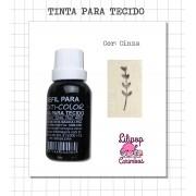 Kit de Tinta para tecido - Cinza + almofada sem tinta