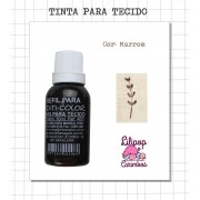 Kit de Tinta para tecido - Marrom + almofada sem tinta