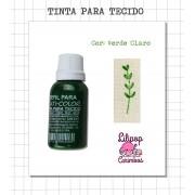 Kit de Tinta para tecido - Verde Claro + almofada sem tinta