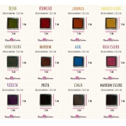KIT PROMOCIONAL - MINI CARIMBEIRAS - 12 cores - Tinta pigmentada