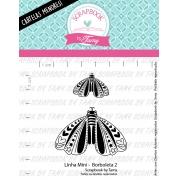 LINHA MINI -  Borboleta 2 - Scrapbook by Tamy