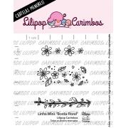 LINHA MINI -  Borda Floral - Lilipop Carimbos