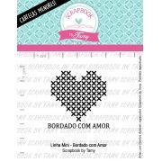 LINHA MINI -  Bordado com Amor - Scrapbook by Tamy