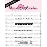LINHA MINI -  Bordas 3 - Lilipop Carimbos