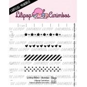 LINHA MINI - Bordas - Lilipop Carimbos (Coleção Natal 2020)