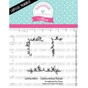 LINHA MINI -  Cantoneiras Florais  - Scrapbook by Tamy
