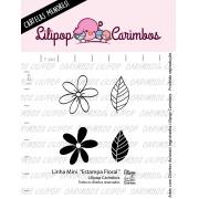 LINHA MINI - Estampa Floral - Lilipop Carimbos