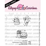 LINHA MINI -  Hamburguer, Pizza e Sorvete - Lilipop Carimbos