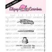 LINHA MINI - Pena e Tinta (Lilipop Carimbos)