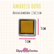 Mini Carimbeira - Cor Amarelo Ouro - Tinta pigmentada