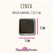 Mini Carimbeira - Cor Cinza - Tinta pigmentada