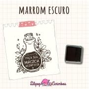 Mini Carimbeira - Cor Marrom Escuro - Tinta pigmentada