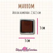 Mini Carimbeira - Cor Marrom - Tinta pigmentada