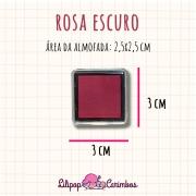 Mini Carimbeira - Cor Rosa Escuro - Tinta pigmentada