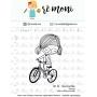 "Cartela de Carimbos M - ""Menina Bike"" - Remoni"