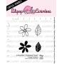 """Cartela de Carimbos Mini - """"Estampa Floral"""" - Lilipop Carimbos"""