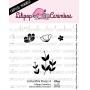 "Cartela de Carimbos Mini - ""Flores 4"" - Lilipop Carimbos"
