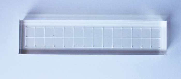 Base para carimbos 15x3,5 cm com grade  (LILIPOP CARIMBOS)