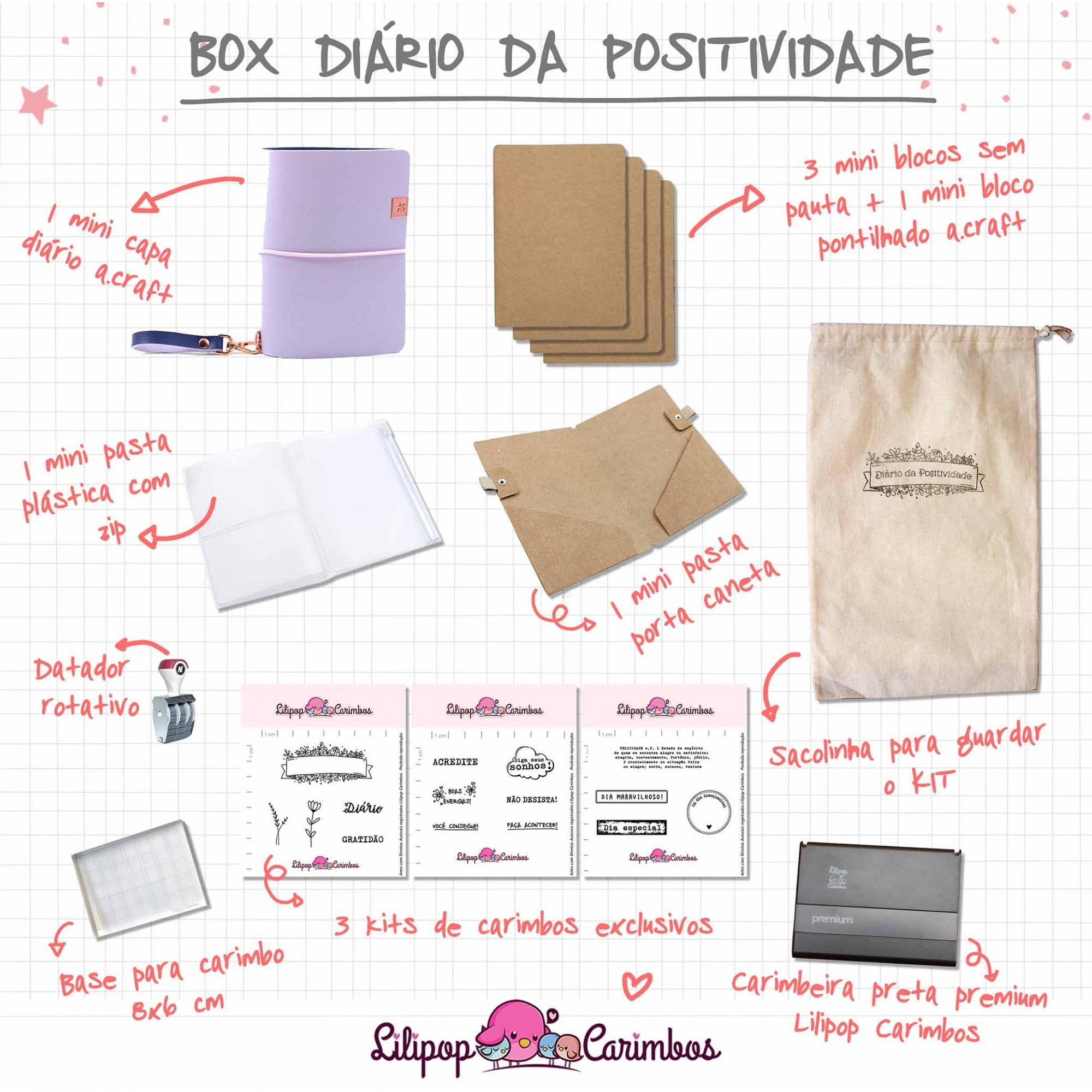 BOX DIÁRIO DA POSITIVIDADE - GRAPE ICE