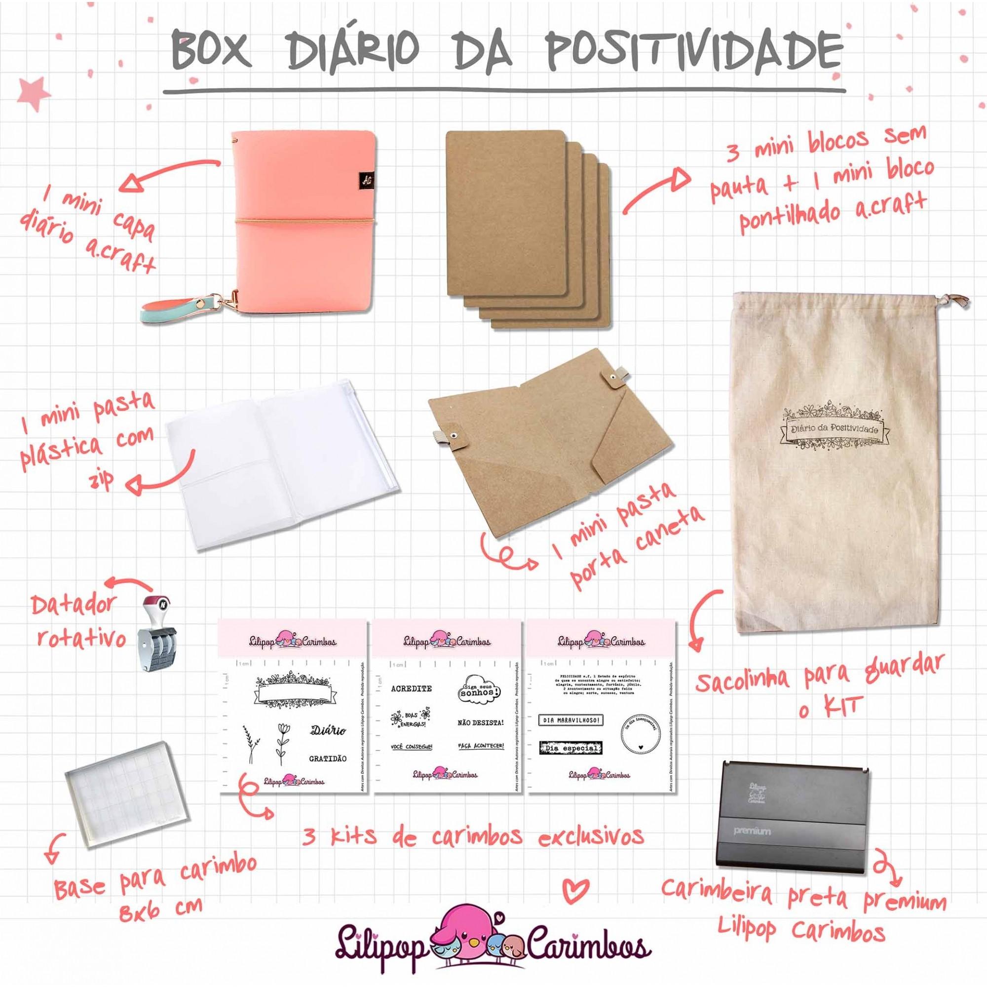 BOX DIÁRIO DA POSITIVIDADE - PEACH
