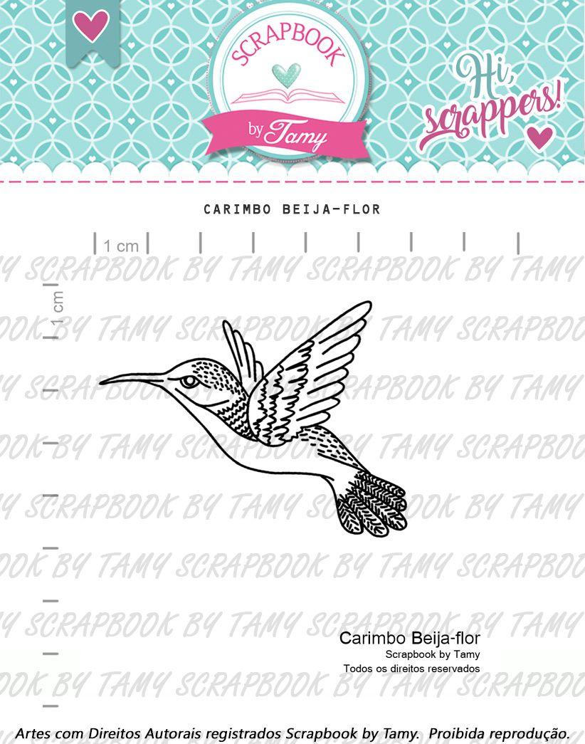 "Cartela de Carimbos - ""Beija-Flor"" - Scrapbook by Tamy  - Lilipop carimbos"