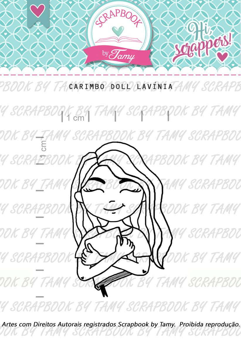 Carimbo Doll Lavínia - Scrapbook by Tamy