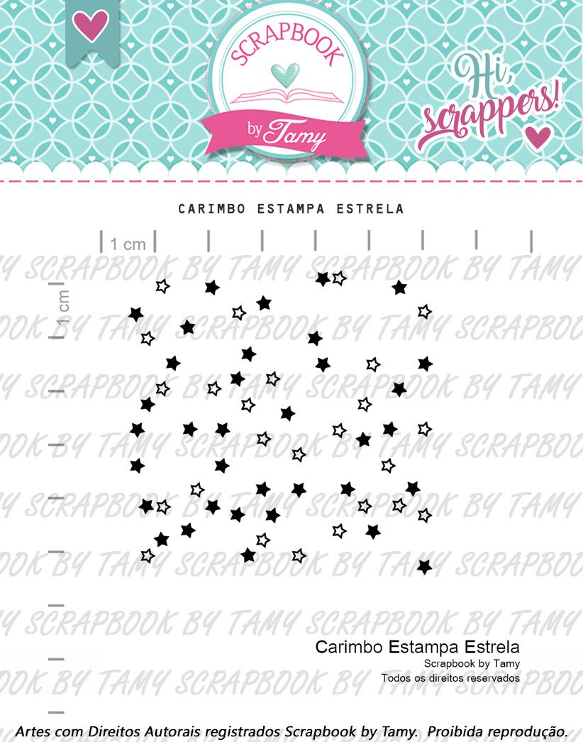 Carimbo Estampa Estrela - Scrapbook by Tamy