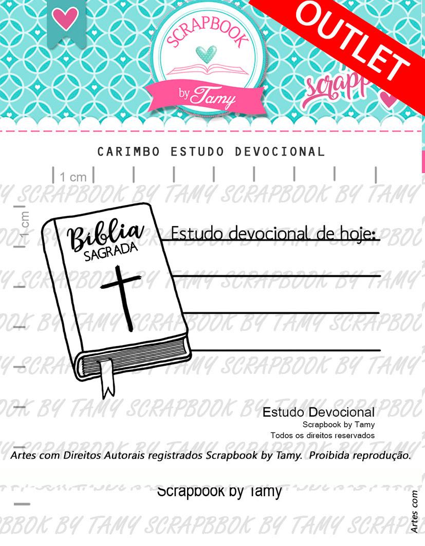 "Cartela de Carimbos - ""Estudo Devocional"" - Scrapbook by Tamy  - Lilipop carimbos"