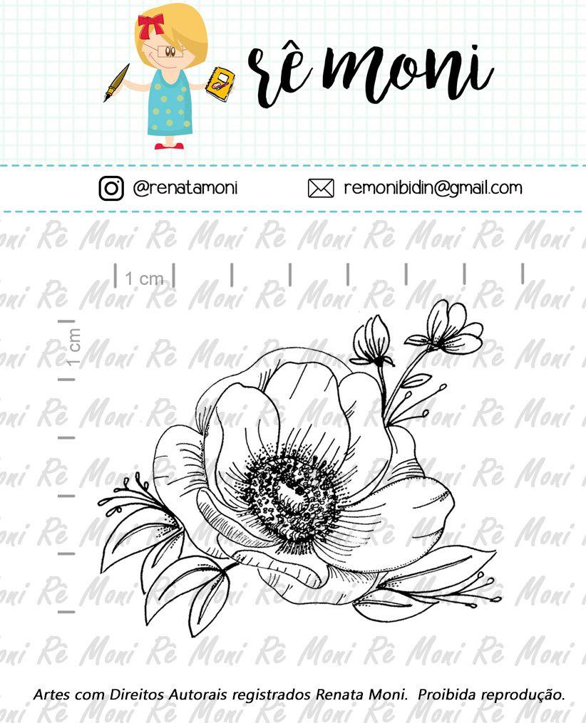 Carimbo - Flor Anêmona