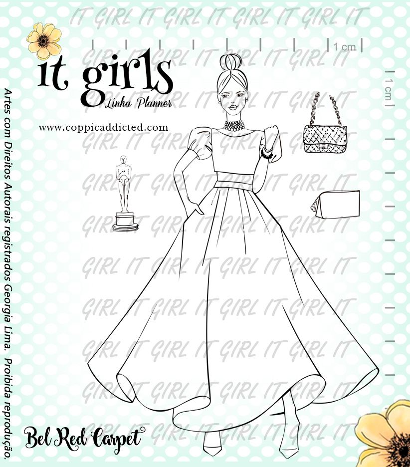 Carimbo It Girl Linha Planner - Bel Red Carpet
