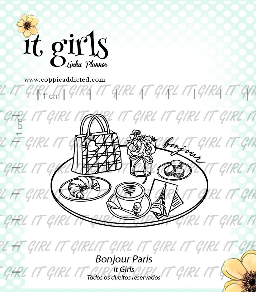 Carimbo It Girl Linha Planner - Bonjour Paris