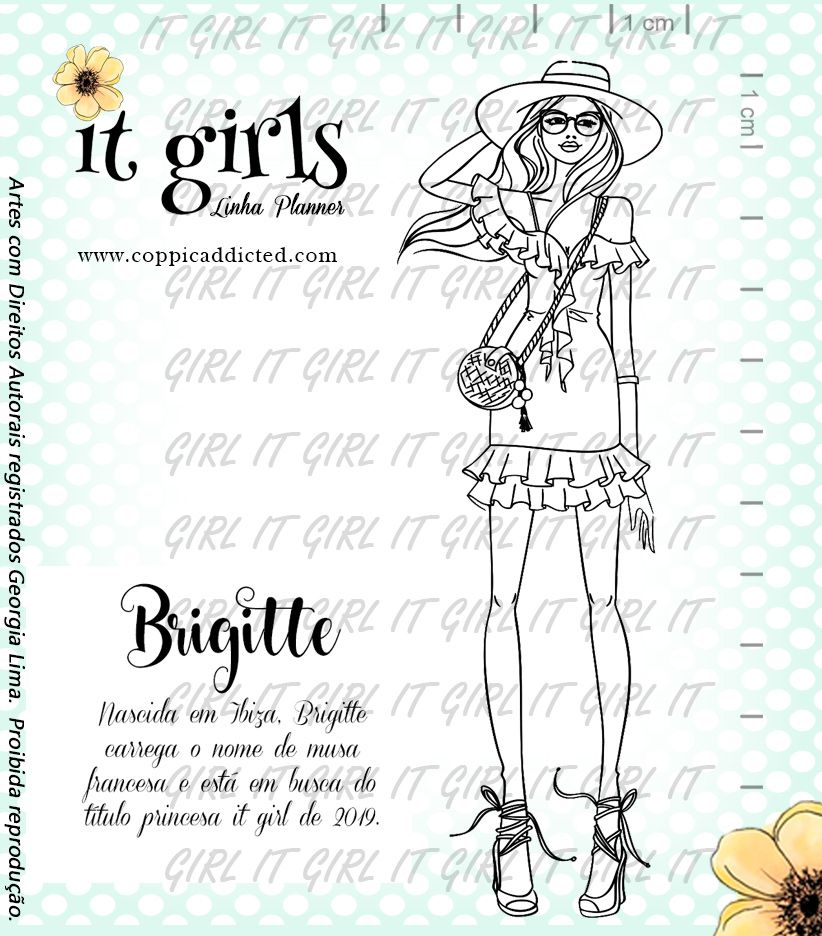Carimbo It Girl Linha Planner - Brigitte