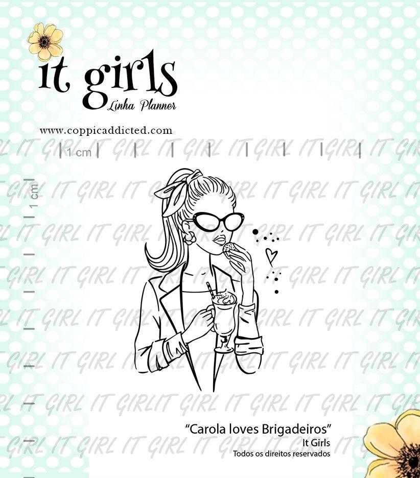 Carimbo It Girl Linha Planner - Carola Loves Brigadeiros