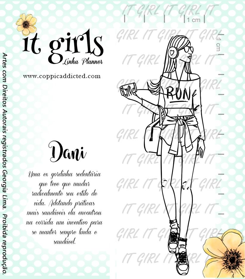 Carimbo It Girl Linha Planner - Dani
