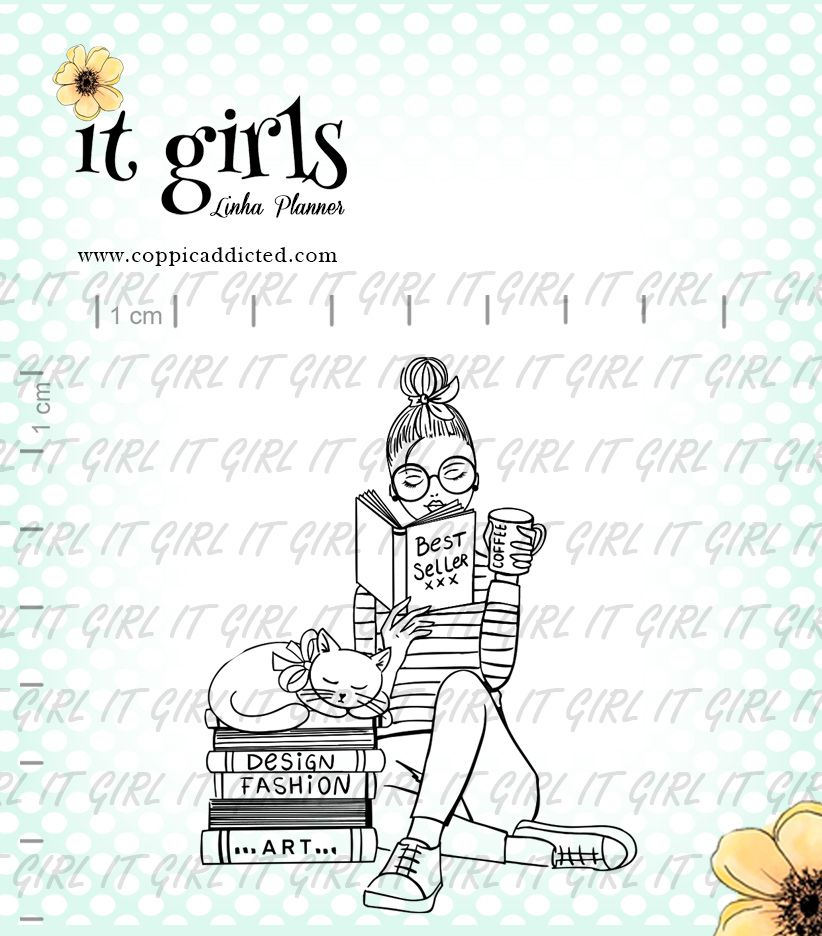 Carimbo It Girl Linha Planner - Drika  - Lilipop carimbos