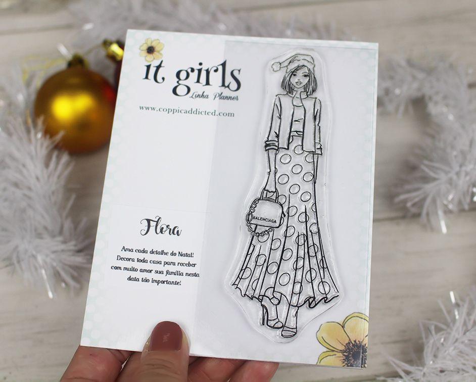 Carimbo It Girl Linha Planner - Flora