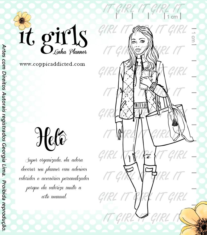 Carimbo It Girl Linha Planner - Helô