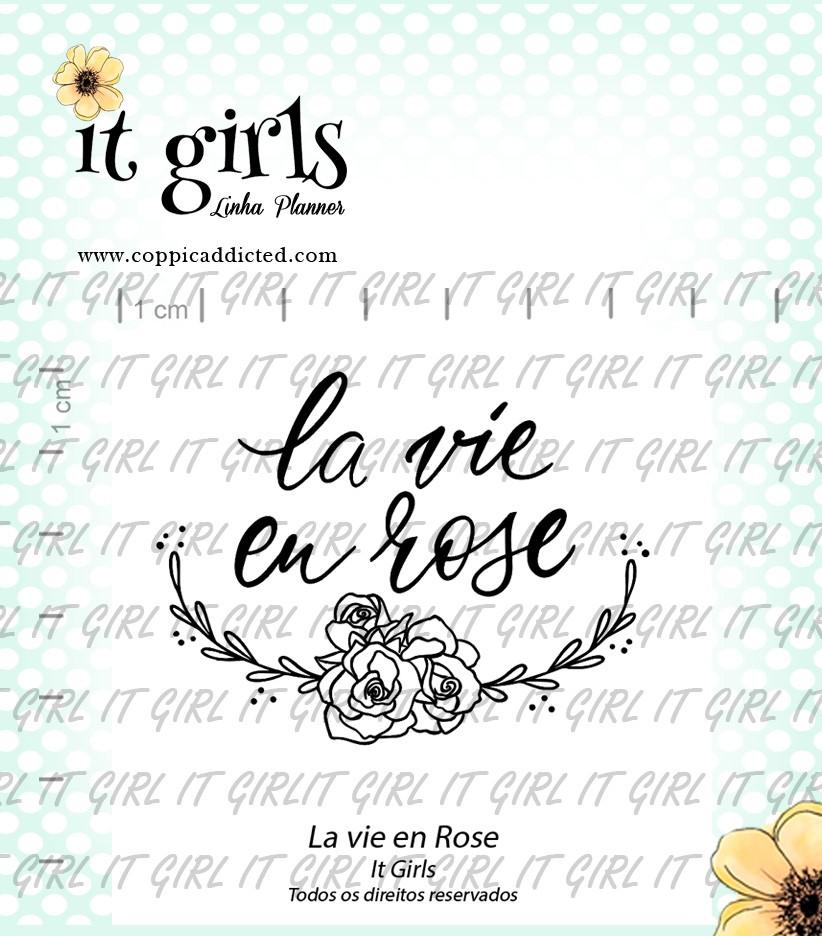 Carimbo It Girl Linha Planner - La vie en Rose