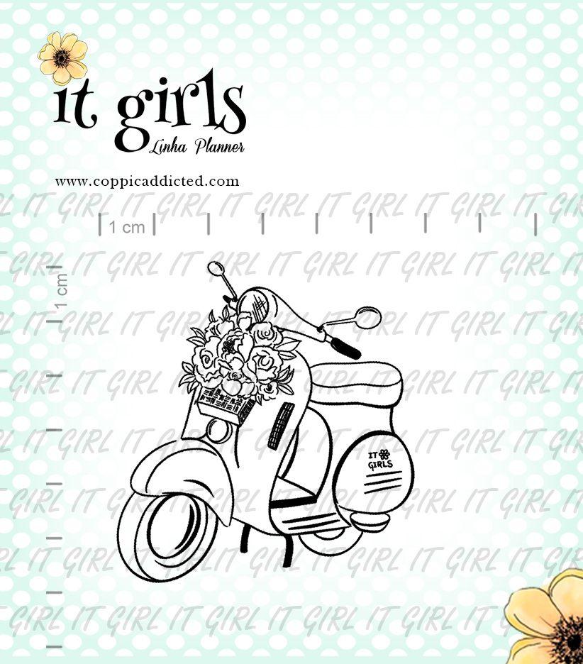 Carimbo It Girl Linha Planner - Lambreta