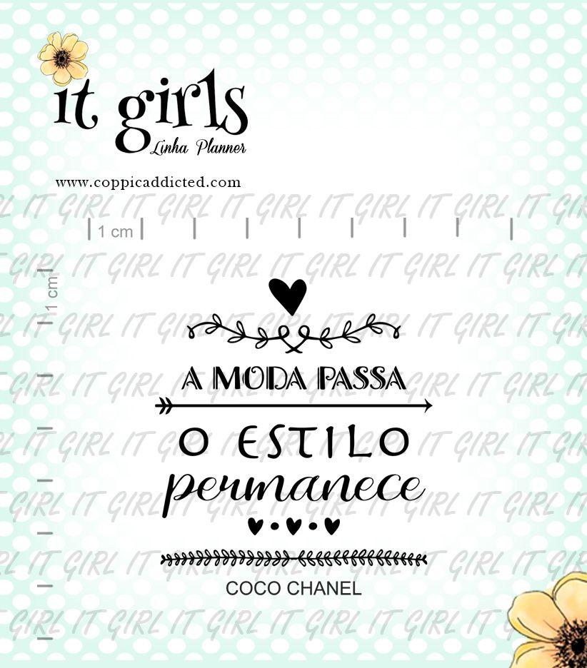 Carimbo It Girl Linha Planner - Lettering Chanel