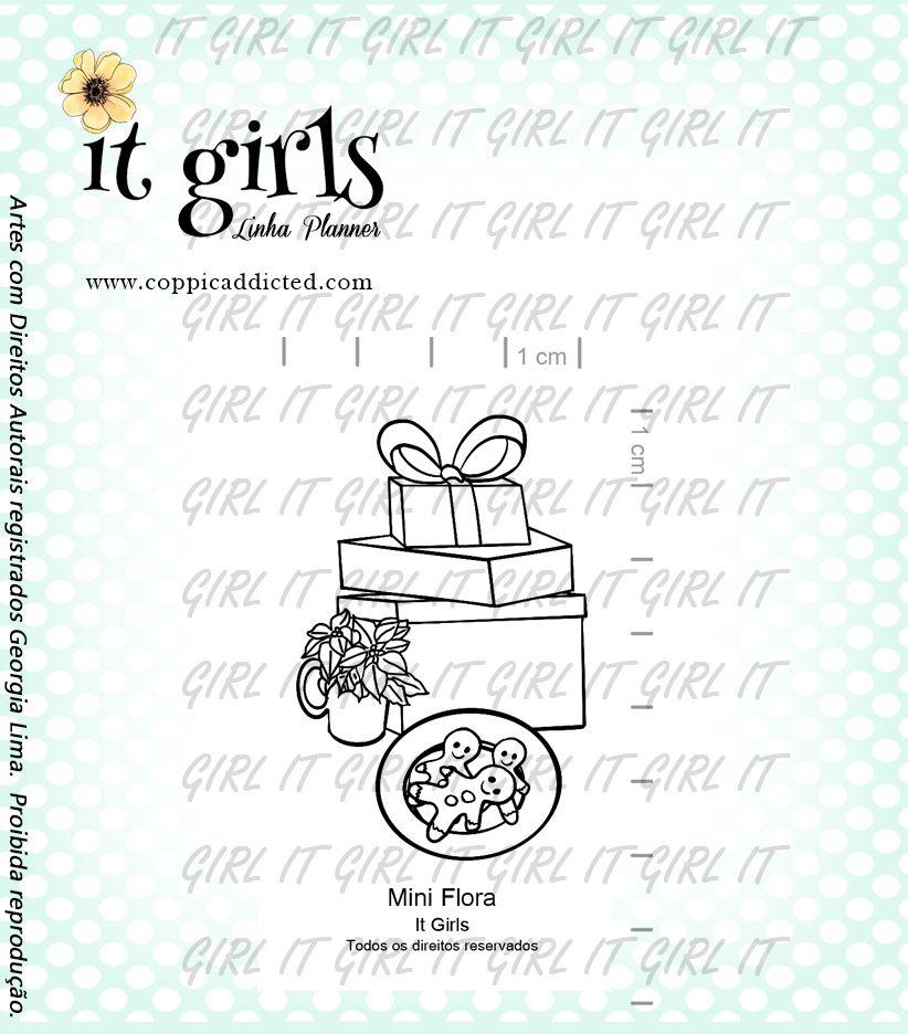 Carimbo It Girl Linha Planner - Mini Flora  - Lilipop carimbos