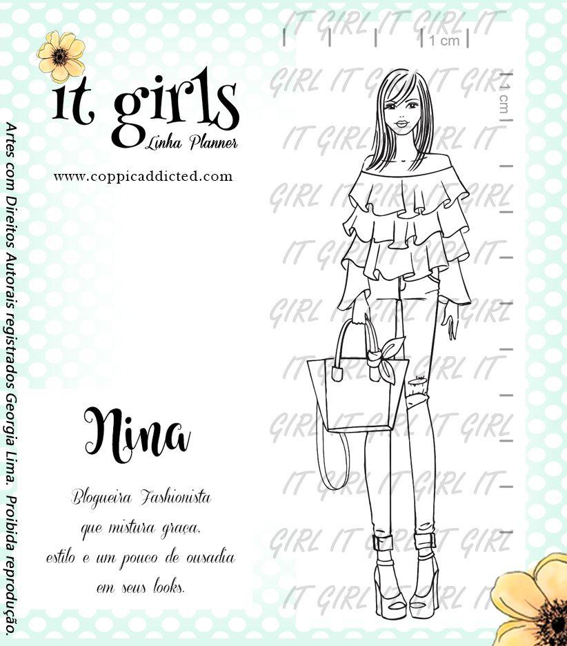 Carimbo It Girl Linha Planner - Nina
