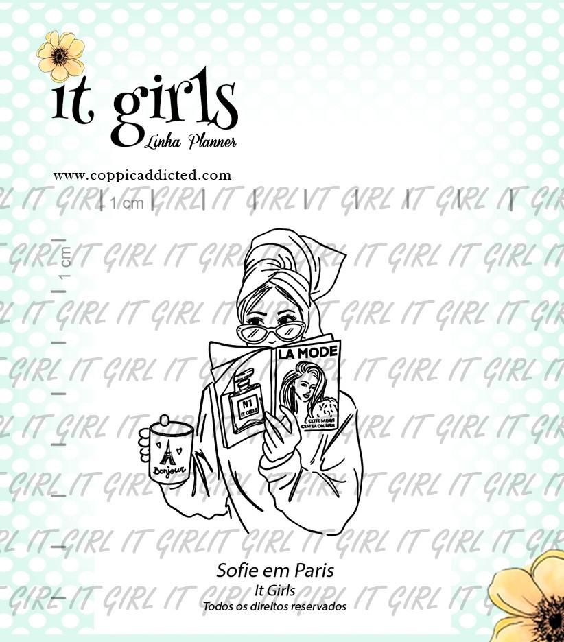 Carimbo It Girl Linha Planner - Sofie em Paris  - Lilipop carimbos