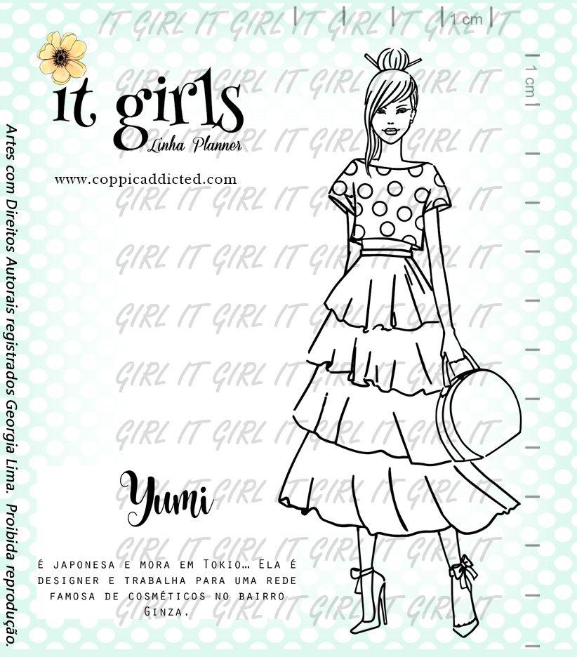 Carimbo It Girl Linha Planner - Yumi