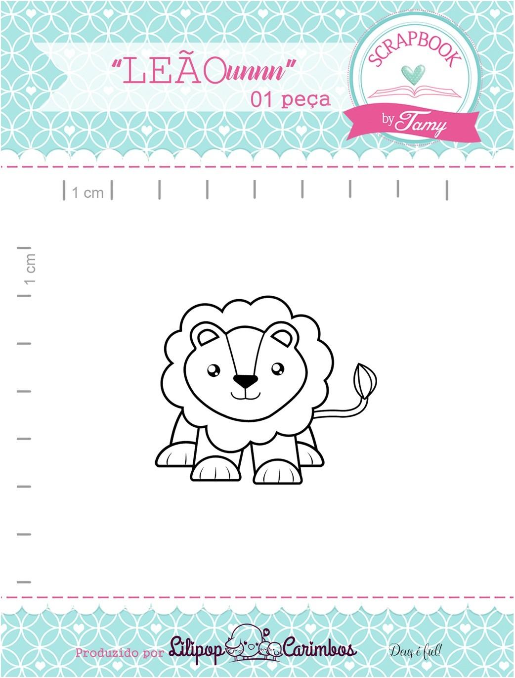 Carimbo Leão  - Scrapbook by Tamy