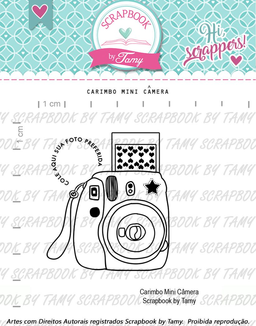 Carimbo Mini Câmera - Scrapbook by Tamy