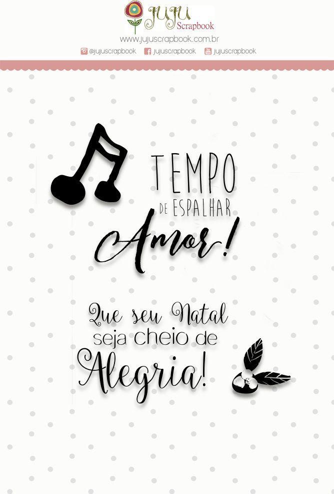 """Carimbo Mini """"Cheio de Alegria"""" - Juju Scrapbook"""