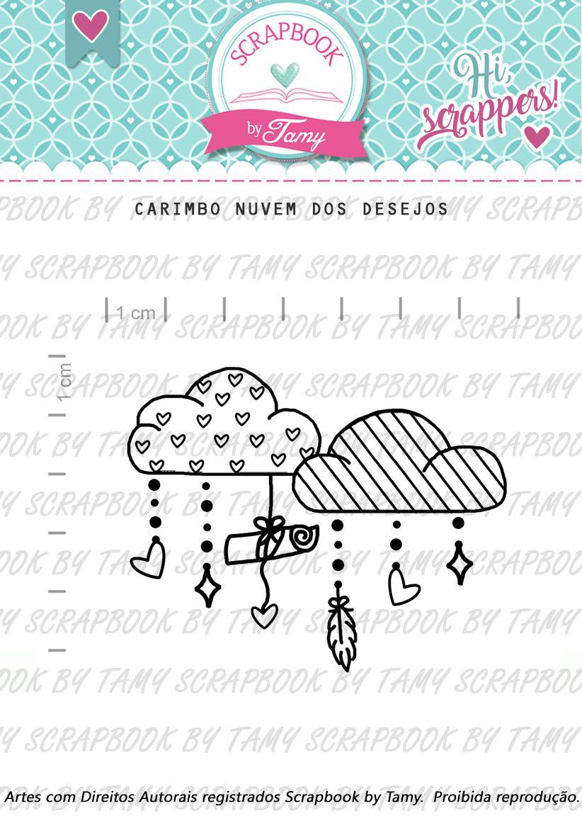 Carimbo Nuvem dos Desejos - Scrapbook by Tamy