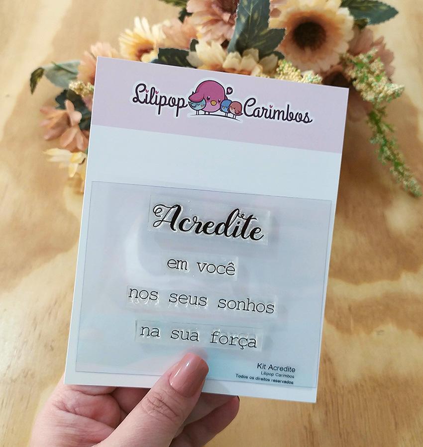 """Cartela de Carimbos - """"Acredite"""" - Lilipop Carimbos   - Lilipop carimbos"""