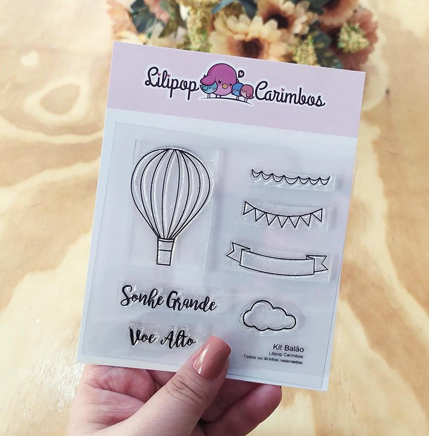 "Cartela de Carimbos ""Balão"" - Lilipop Carimbos   - Lilipop carimbos"